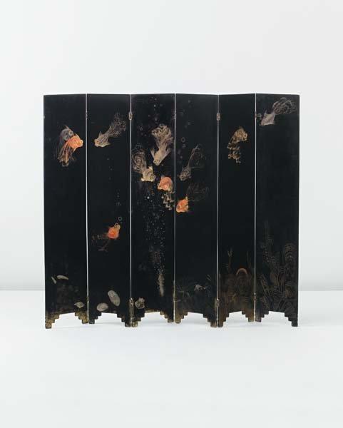 5: JEAN DUNAND, Folding screen, circa 1925