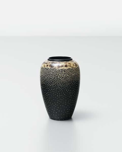 13: JEAN DUNAND, Small ovoid vase, circa 1925