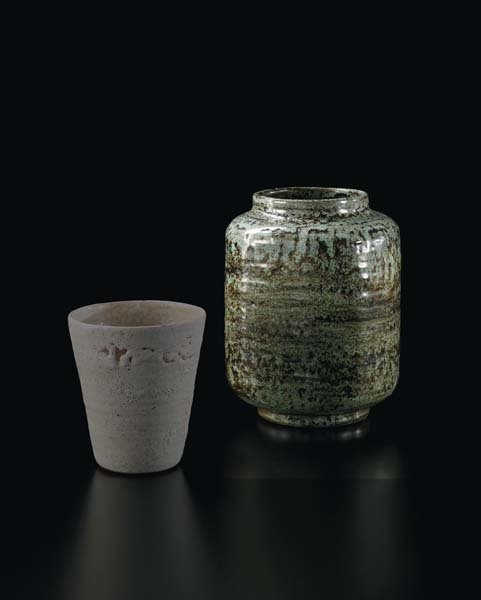 19: LUCIE RIE, Early squared vase, 1947