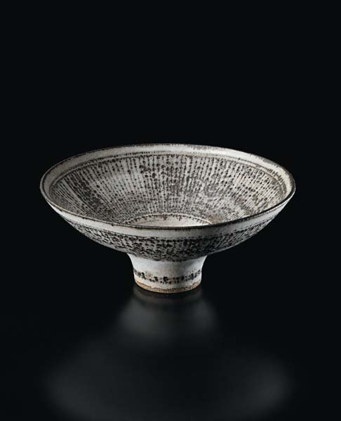 24: LUCIE RIE, 'Knitted' Bowl, circa 1984