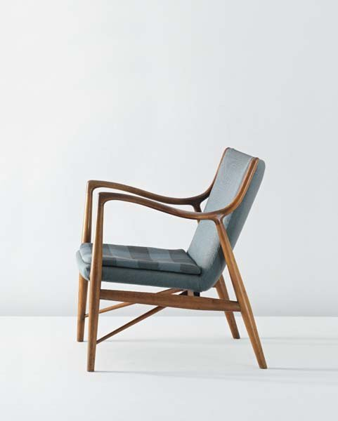 156: FINN JUHL, Armchair, model no. NV 45, circa 1945