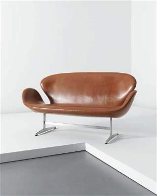 161: ARNE JACOBSEN, Swan' sofa, model no. 3321, circa