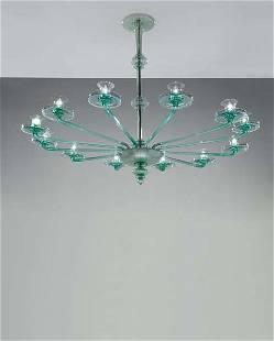 180: VITTORIO ZECCHIN, Monumental chandelier, circa 192