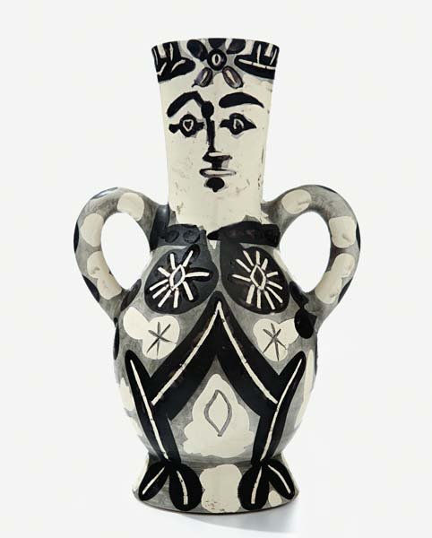 9: PABLO PICASSO, Vase with Two Handles, 1952