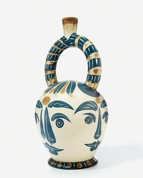 11: PABLO PICASSO, Aztec Vase with Four Faces, 1957
