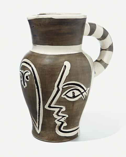 14: PABLO PICASSO, Grey Engraved Pitcher, 1954