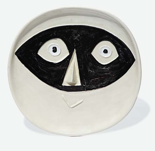 23: PABLO PICASSO, Head with Mask, 1956