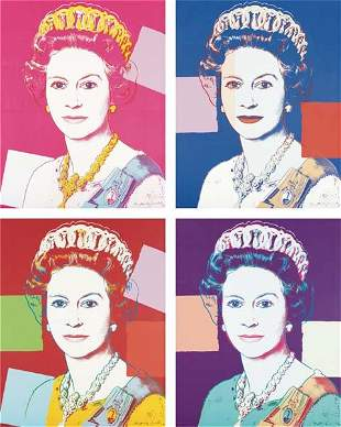 71: ANDY WARHOL, Queen Elizabeth suite, from Reigning Q
