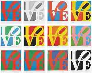 77: ROBERT INDIANA, Book of Love portfolio, 1997