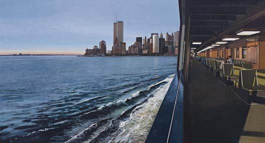 15: RICHARD ESTES, On The Staten Island Ferry Looking T