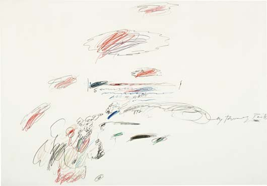 21: CY TWOMBLY, Untitled (Paris, May 1963), 1963