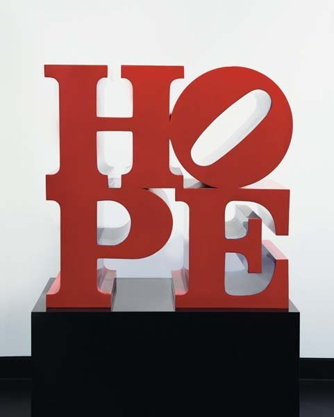 160: ROBERT INDIANA, Hope (Red-Blue), 2009