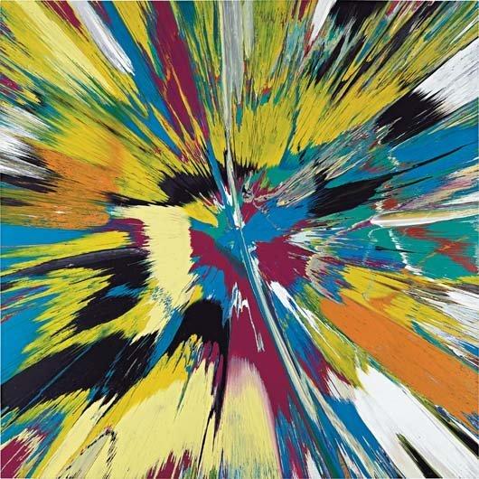 215: DAMIEN HIRST, Beautiful Exploded Aquarium Painting