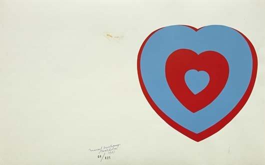 75: MARCEL DUCHAMP, Coeurs Volants (Fluttering Hearts),