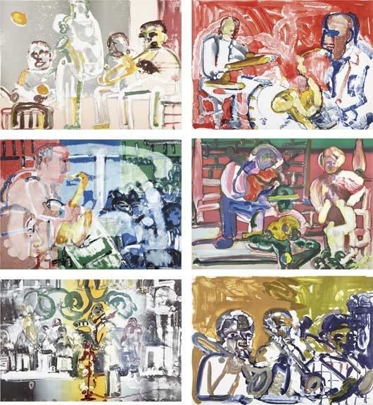 79: ROMARE BEARDEN, Jazz series, 1979