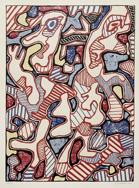 81: JEAN DUBUFFET, Affairements, 1964