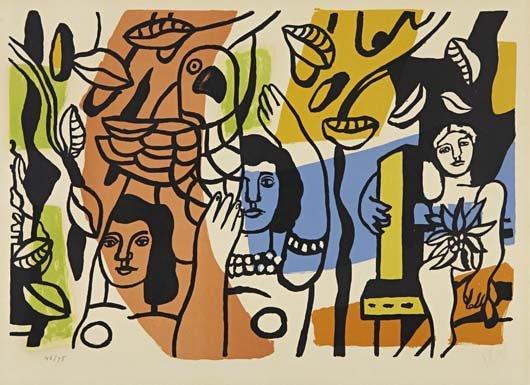 86: FERNAND LEGER, Les femmes au perroquet, 1952