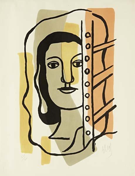87: FERNAND LEGER, Tête de femme, 1949