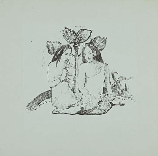 89: PAUL GAUGUIN, Deux Femmes Maories accroupies (Two M