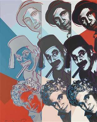277: ANDY WARHOL, The The Marx Brothers, from Ten Portr