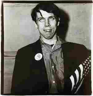 DIANE ARBUS, Patriotic Young Man with a Flag, N.Y.C.,