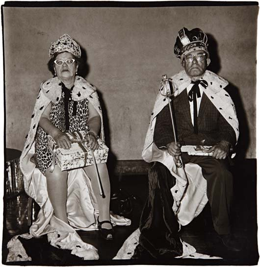 DIANE ARBUS, King and Queen of a senior citizens'
