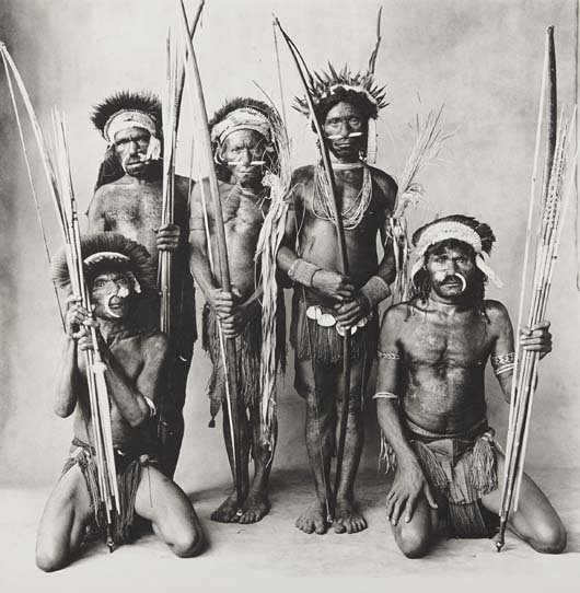 IRVING PENN, Five Okapa Warriors, New Guinea, 1970