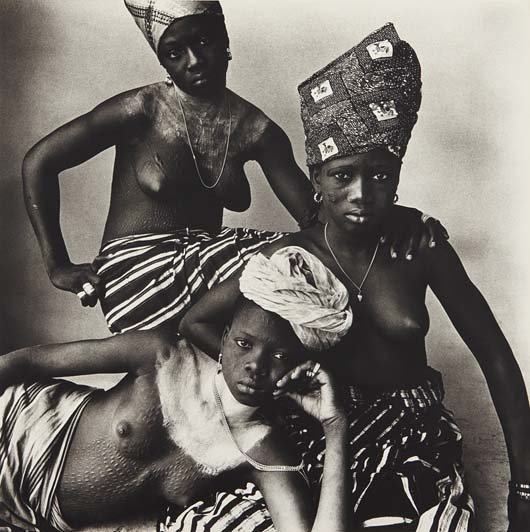 IRVING PENN, Three Dahomey Girls, One Reclining, 1967