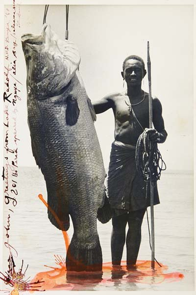 PETER BEARD, Nguya and 201-lb. Nile Perch, Alia Bay,