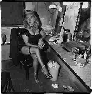 DIANE ARBUS, Burlesque Comedienne in her dressing room,