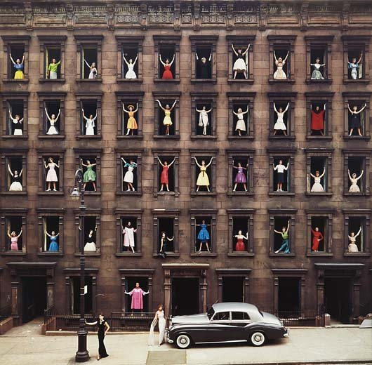 ORMOND GIGLI, Models in Windows, NYC, 1960