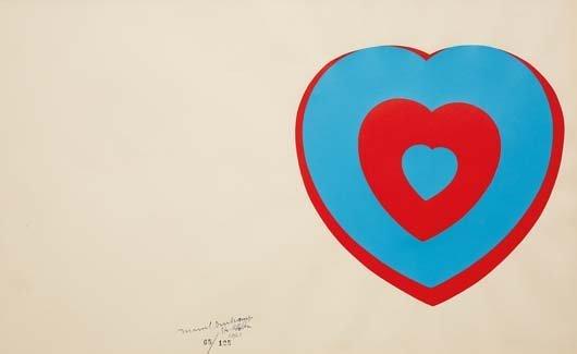 MARCEL DUCHAMP, Coeurs volants (Fluttering Hearts),
