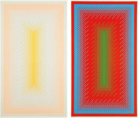 RICHARD ANUSZKIEWICZ, Reflections IV, Grey; and
