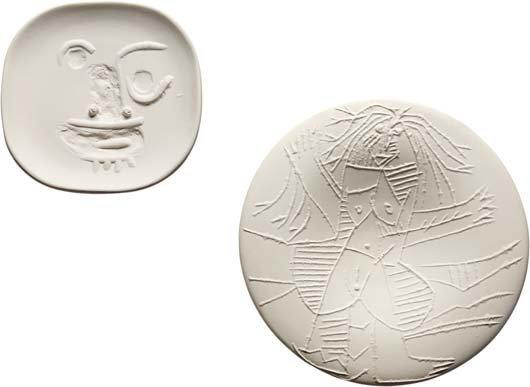 PABLO PICASSO, Visage aux yeux ronds (Round-Eyed Face);