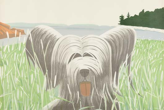 ALEX KATZ, Dog at Ducktrap, 1976