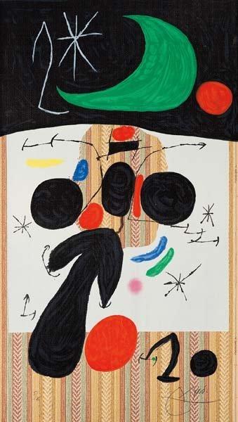 JOAN MIRÓ, Intérieur et nuit (Interior and Night), 1969