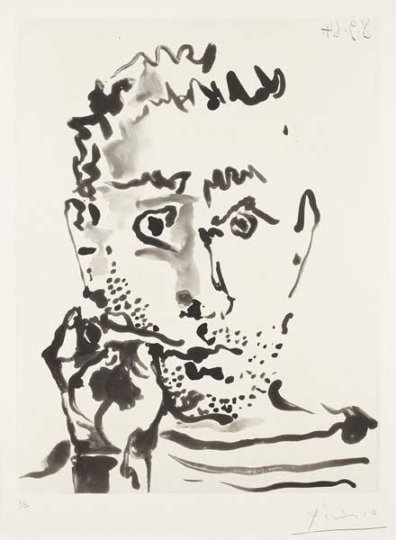 PABLO PICASSO, Fumeur V (Smoker V), 1964