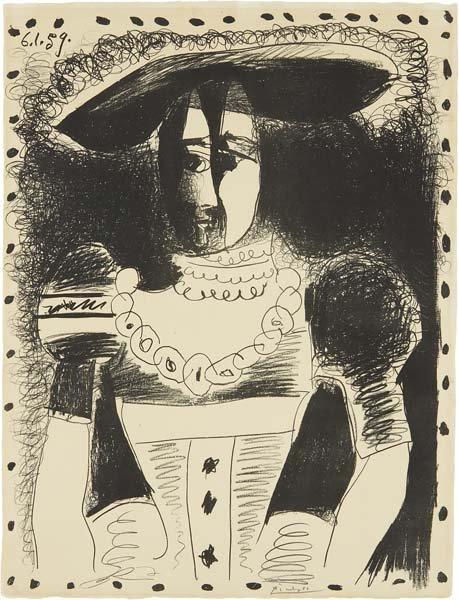 PABLO PICASSO, Noble Dame (Noblewoman), 1959