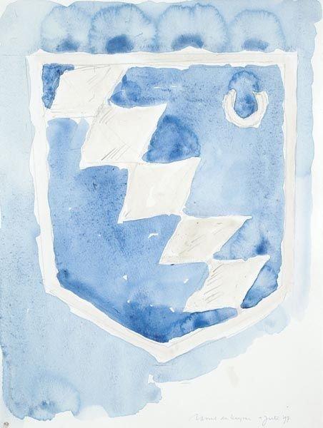 1447:  RAOUL  DE KEYSER  (b. 1930)  Untitled.  Zentrum.