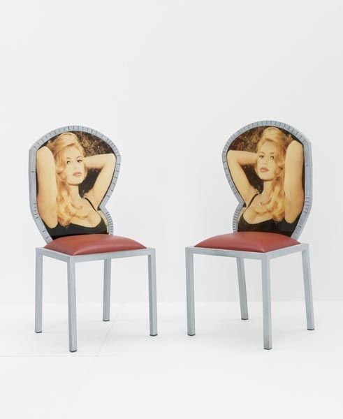 "2:    SYNIUGA    ""Brigitte Bardot"" Pair of Chairs, 1991"