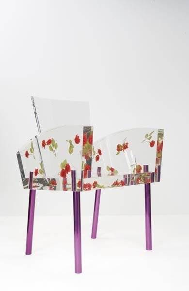 "8:  SHIRO  KURAMATA    ""Miss Blanche"" chair, ca. 1989."