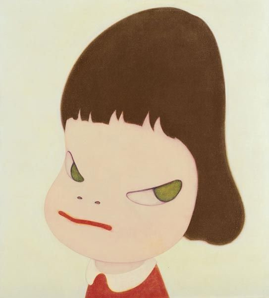 10:  YOSHITOMO  NARA  (b. 1959)  Bad Barber.  Signed, t