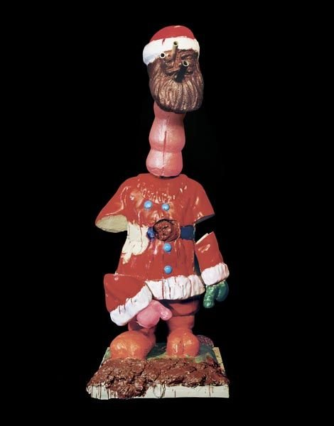 21:  PAUL  McCARTHY  (b. 1945)  Santa Long Neck.  Paint