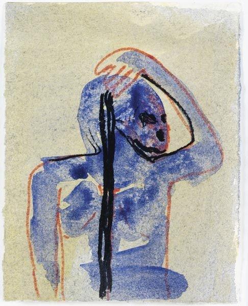 55:  ROSEMARIE  TROCKEL  (b. 1952)  Untitled.  Mixed me