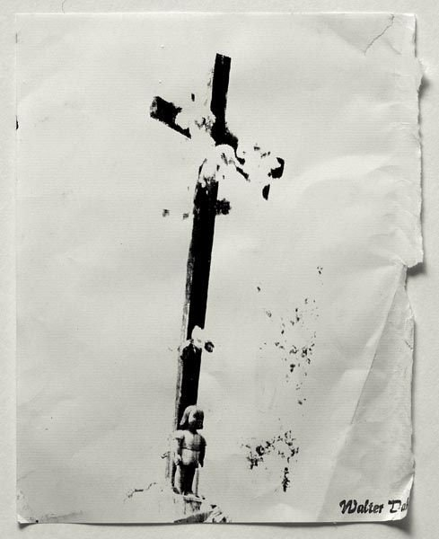 59:  WALTER  DAHN  (b. 1954)  Cross with Doll.  Stamped