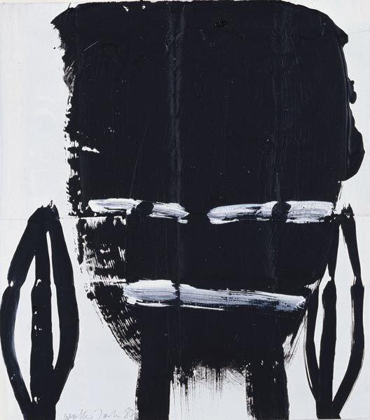 60:  WALTER  DAHN  (b. 1954)  Untitled (Black Face).  S