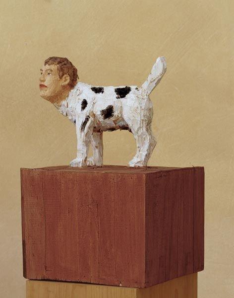61:  STEPHAN  BALKENHOL  (b. 1957)  Hund Mit Menschenko