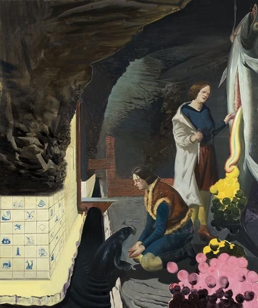 1008:  NEO  RAUCH  (b. 1960)  Grotte.  Signed and dated