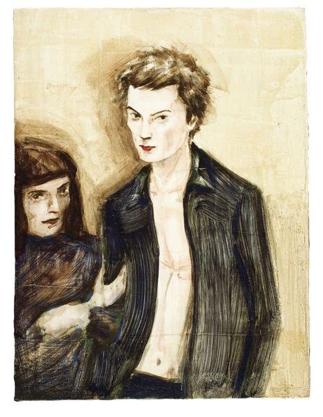 1009:  ELIZABETH  PEYTON  (b. 1965)  Sid And His Mum.