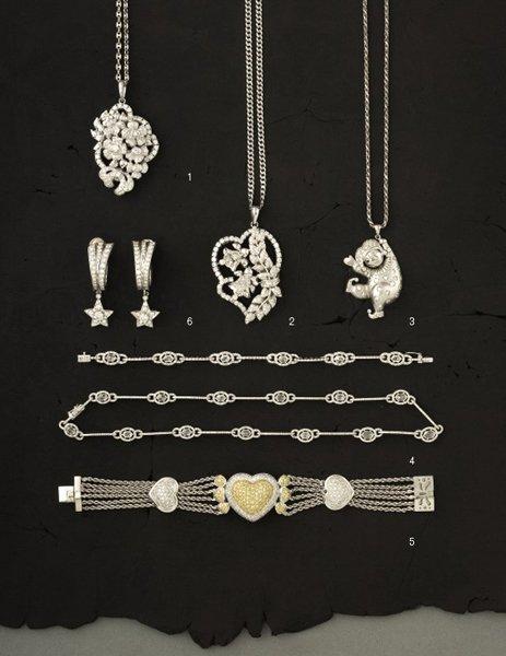 3:        A Diamond-Set Pendant  modeled as a cherubic